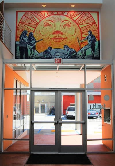 Murals by Sonia Romero seen at Dennis P. Zine Community Center, Los Angeles - Tierra del Sol