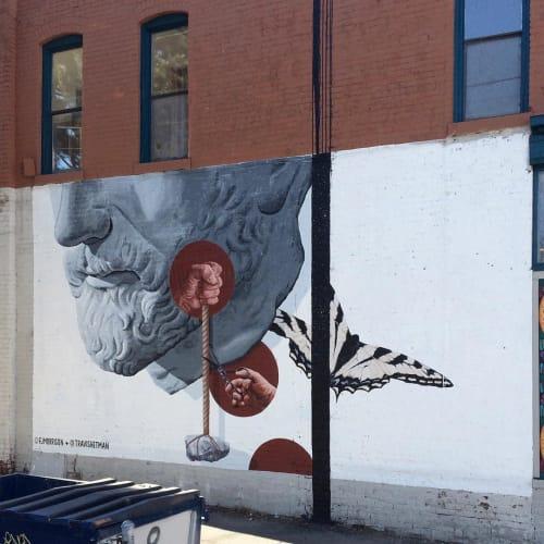 Street Murals by Travis Hetman seen at Leon Art Gallery, Denver - Leon