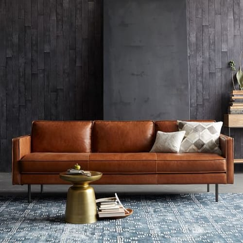 Couches & Sofas by West Elm at The Joshua Tree House, Joshua Tree - Axel Leather Sofa