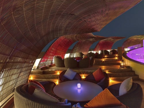Furniture by Kenneth Cobonpue seen at Nobu Doha Restaurant, Four Seasons Marina, Doha, Qatar, Doha - Outdoor Canopy