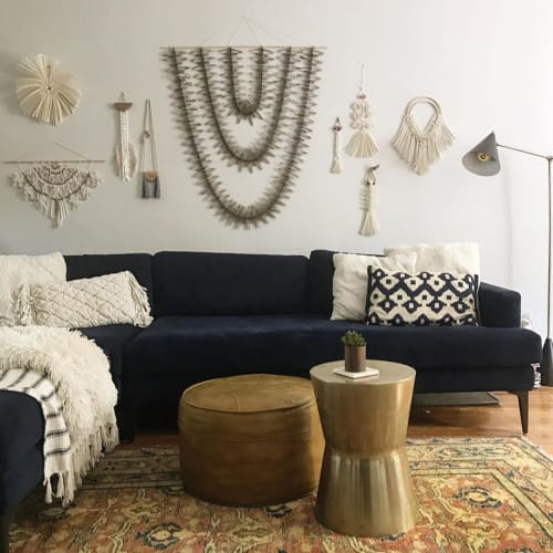 Macrame Wall Hanging by Griffin Carrick Design seen at Private Residence, Fayetteville - Paper Macrame Wall hanging