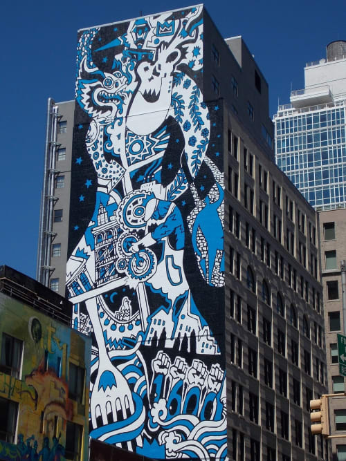 "Murals by Misha ""MDot"" Tyutyunik at 11 Howard, New York - Mural"