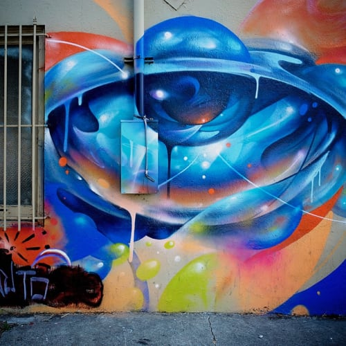 Street Murals by Vyal One seen at 2118 Brush St, Oakland, California, Oakland - Eyeballs