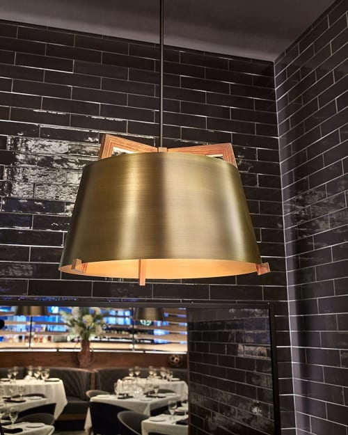Pendants by Cerno seen at Ocean Prime Beverly Hills, Beverly Hills - Ignis Pendant