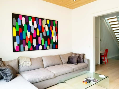 Paintings by Peter Triantos seen at Private Residence, Toronto - Jelly Beans #12