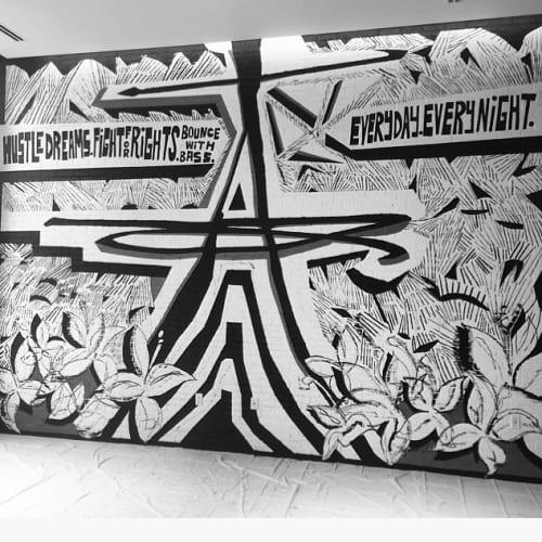 Murals by Matt Hebermehl seen at Renaissance Atlanta Airport Gateway Hotel, Atlanta - Hustle Dreams