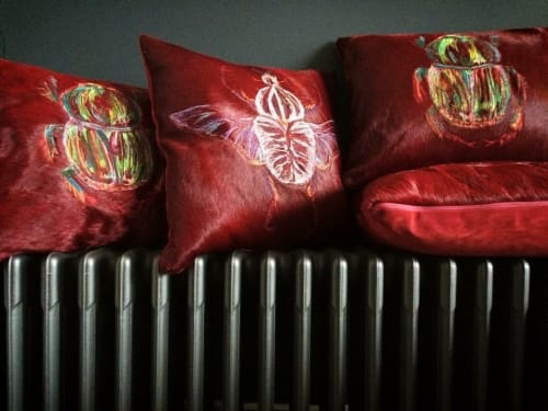 Pillows by Carola Van Dyke Studio seen at Bergdorf Goodman, New York - Beetle Cushion