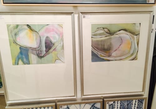 Paintings by Mary Elizabeth Peterson seen at Private Residence, Ormond Beach - Shell Paintings