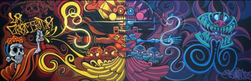 Street Murals by Jesse Hernandez seen at Acala Studios - Oakland, Oakland - Danza de los Muertos
