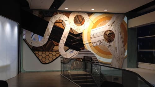 Murals by Chris Silva at CBRE Chicago, Chicago - CBRE Mural