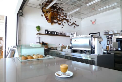Murals by Steven Daily Studios seen at Cafe Dulce, Los Angeles - Mural