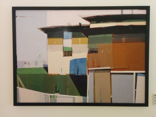 Paintings by Siddharth Parasnis seen at Zuckerberg San Francisco General Hospital and Trauma Center, San Francisco - Two Storied House with a Backyard