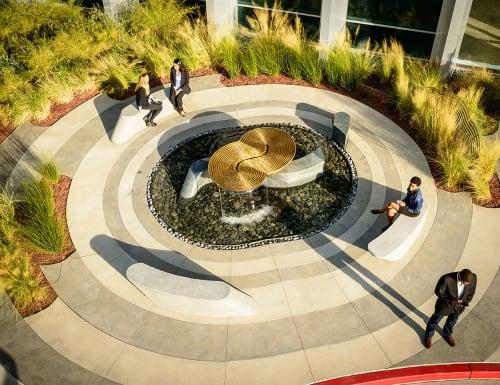 Sculptures by Cliff Garten seen at Moffett Place 1, Sunnyvale - Illuvium