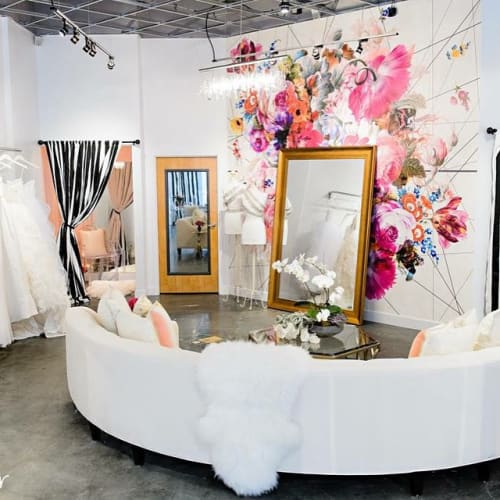 Wallpaper by Back To The Wall at Calvet Couture Sarasota, Sarasota - Bloom Boom