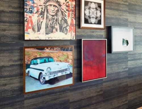 Paintings by Justin Auld seen at Hotel Indigo El Paso Downtown, El Paso - Blue Chevy