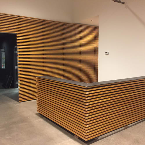 Furniture by PartCraft LLC seen at Forge Graphic Works, Portland - Reception Area Build-out