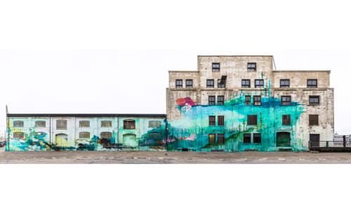 Murals by Kim West seen at Hauser & Wirth, Los Angeles, Los Angeles - No Way Home