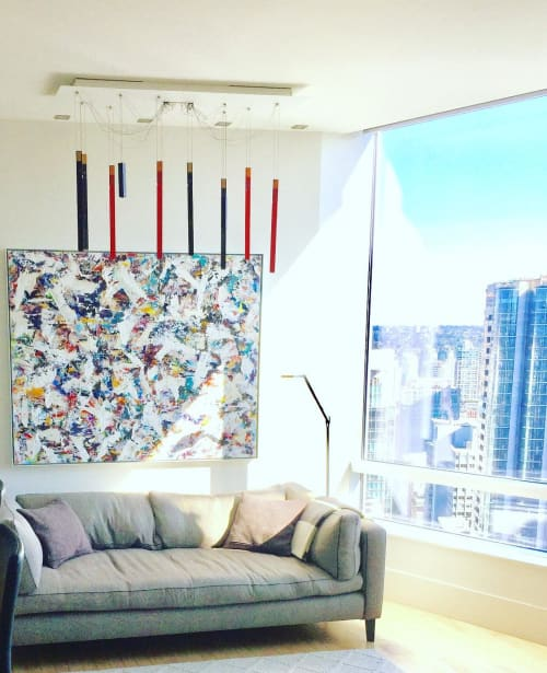 Paintings by Carla Tak seen at Private Residence, Vancouver - Abstract Painting