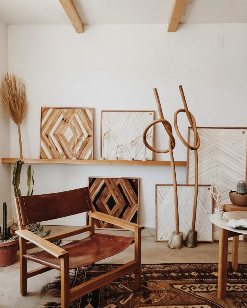 Wall Hangings by Aleksandra Zee at Shop on the Mesa, Yucca Valley - Wood Wall Artworks