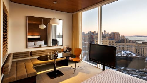 Chairs by KOI Design seen at The Standard, High Line, New York - K2 Swivel Chair