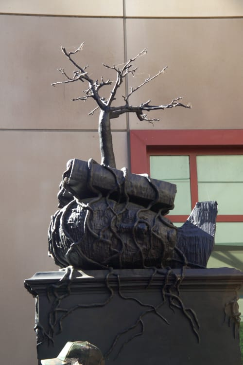 Sculptures by Bill Woodrow seen at UCSF, Parnassus Avenue, San Francisco - Regardless of History