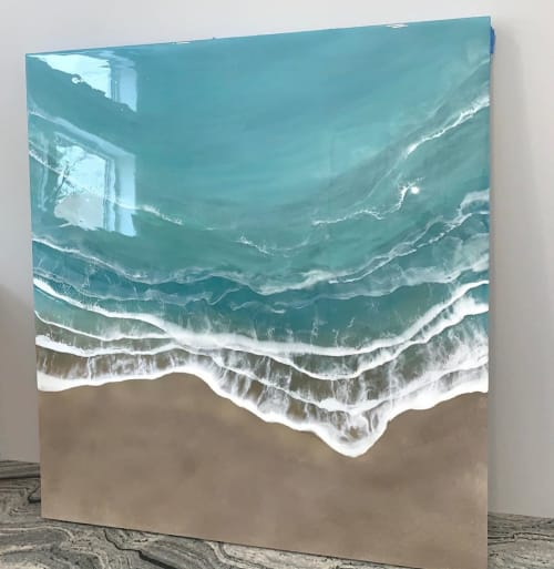 Wall Hangings by Kristi Scott seen at Private Residence, London - Resin Waves Art