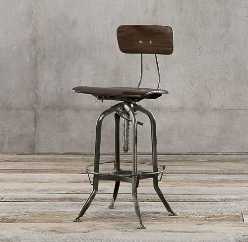 Chairs by Restoration Hardware at Bar Agricole, San Francisco - Vintage Toledo Bar Chair