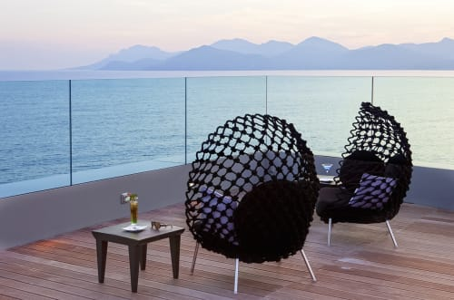 Chairs by Kenneth Cobonpue at Radisson Blu 1835 Hotel & Thalasso, Cannes, France, Cannes - Dragnet Lounge Chair