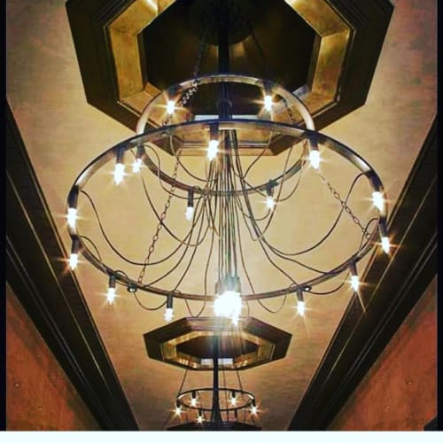Chandeliers by tL* Custom Lighting seen at The Rowan Building, Los Angeles - Chandelier