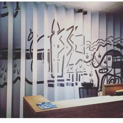 Murals by Renee Rossouw Studio seen at MDW Attorneys, Cape Town - Mural