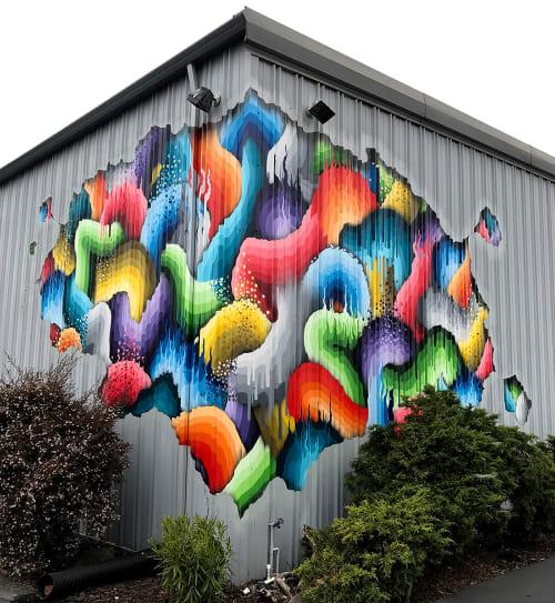 Murals by Ricky Watts at Rileystreet Art Supply, Santa Rosa - Exterior Mural