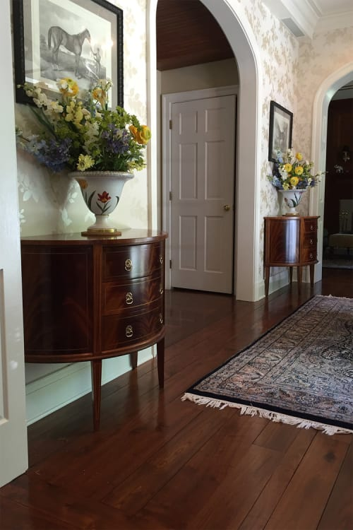 Furniture by Snow Woodworks seen at Private Residence, Middleburg - Mahogany Demilune Chest