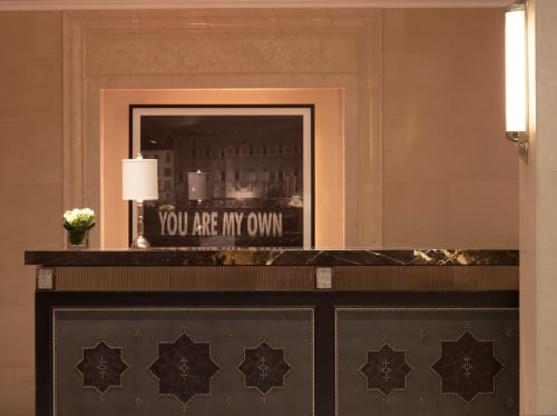 Art & Wall Decor by Jenny Holzer seen at The Surrey, New York - You Are My Own