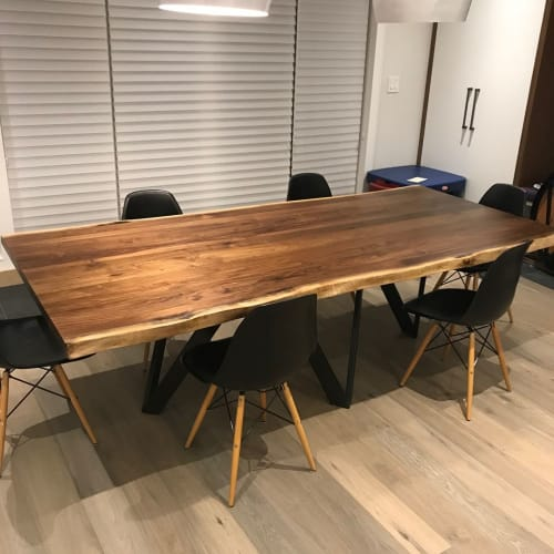 Tables by Caveman Build & Supply Co. seen at Forest Hill, Toronto - Walnut Dining Table