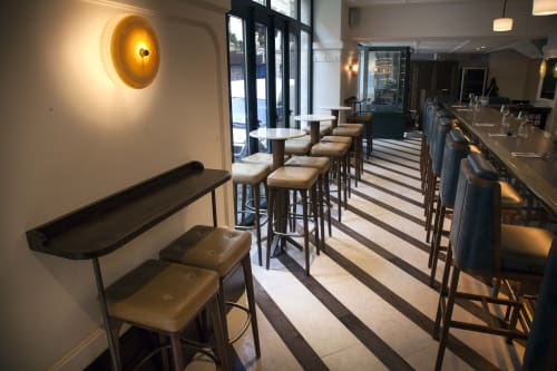 Chairs by Chelsea Upholstery & Interiors seen at Bonhomie, Paris - Bar Stools