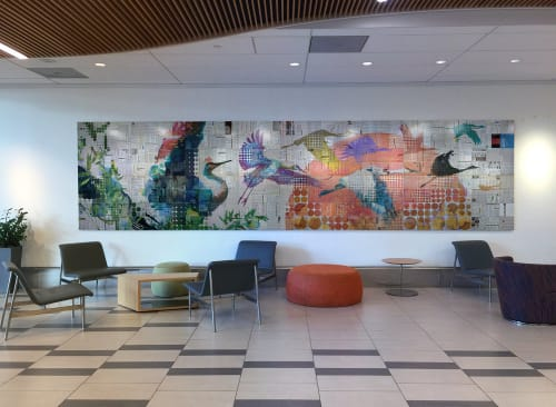 Murals by Phillip Hua at Kaiser Permanente San Francisco Mission Bay Medical Offices, San Francisco - Missed Opportunities