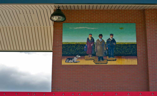 Street Murals by Peter Drake seen at Massapequa Station, Massapequa - Waiting For Toydot