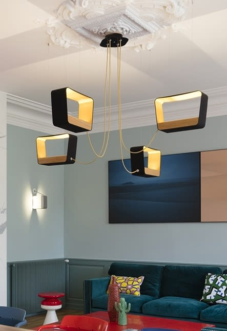 Chandeliers by Davide Oppizzi (DCube) seen at Private Residence in Rully, France, Rully - Eau de Lumière