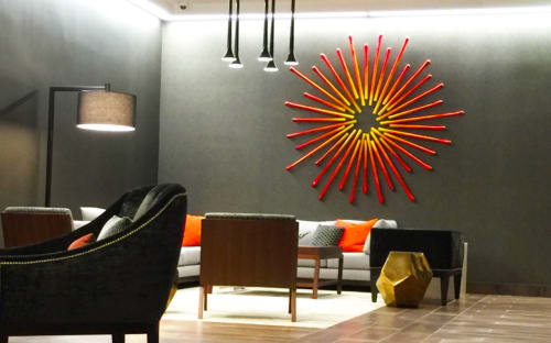 Paintings by Rosemary Pierce Modern Art seen at Hampton Inn & Suites Dallas Downtown, Dallas - Light My Fire