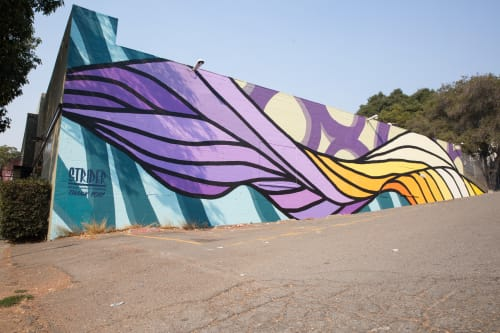Street Murals by Strider Patton seen at 27th Street, Oakland, Oakland - Creative Growth Flow