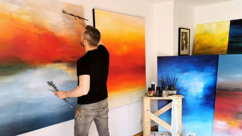 Paintings by CHRISTIAN BAHR seen at Hamburg, Hamburg - AWAKENING BENEATH AUTUMN SKIES