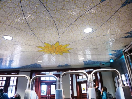 Public Mosaics by Patrick McGee seen at California Station, Chicago - Harmony of the World