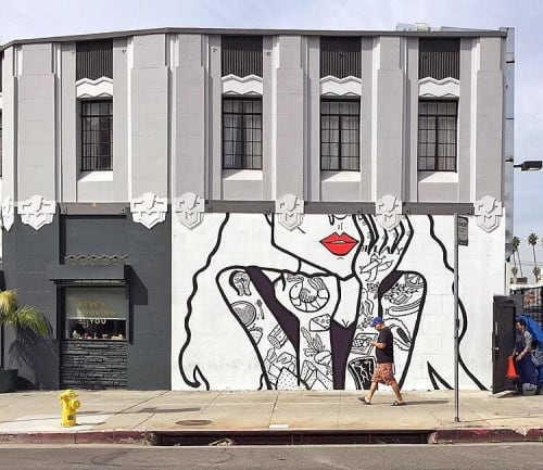 Murals by Priscilla Witte seen at Here's Looking At You, Los Angeles - HLAY Woman