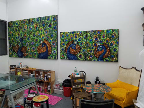 Paintings by Christopher Tanner seen at Christopher Tanner Studio, New York - Peacock