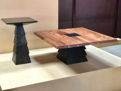 Tables by Michael O'Connell Furniture seen at Atelier de Troupe, Los Angeles - Ziggurat Tables