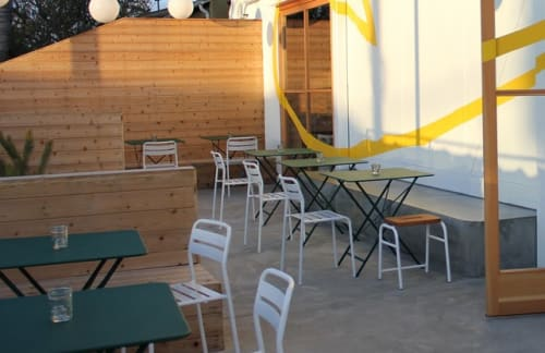 Tables by Fermob USA seen at Superba Food + Bread, Los Angeles - Bistro Table