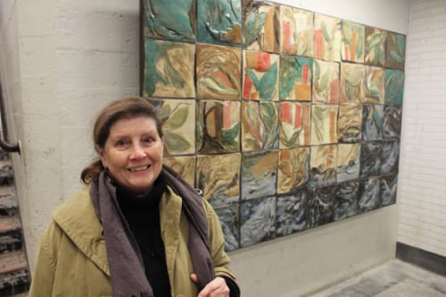 Public Mosaics by Dorothy Hughes seen at Berwyn-Red Line, Chicago - Roots with Diversity