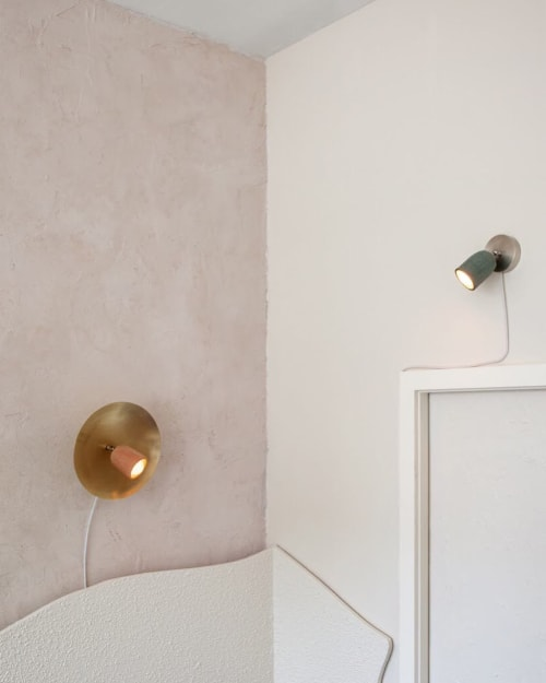 Sconces by In Common With seen at Domicile, Brooklyn - Arundel Spot Sconce and Ceramic Reading Sconce