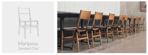 Chairs by Fyrn at Independent Lodging Congress, in the William Vale NYC, Brooklyn - Mariposa Standard Chair