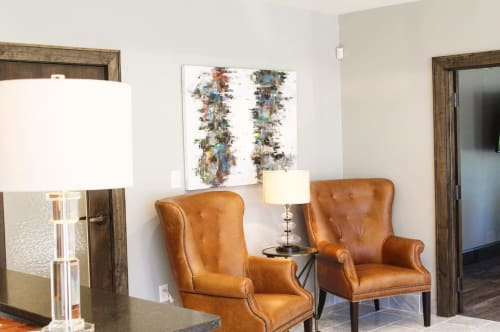 Paintings by Marquin Designs seen at Eller Tonnsen Bach Attorneys at Law, Greenville - Abstract Painting